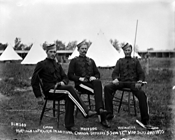 Officers, B Sqdn, 12th Man. Dragoons, July 1895, Portage La Prairie, Man..