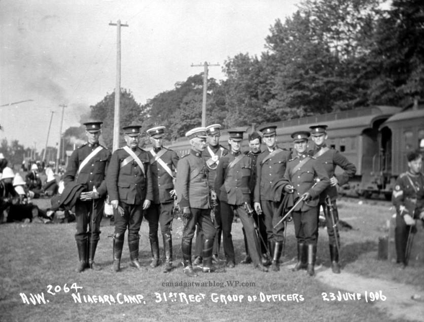 Canada's Militia at Niagara Camp, 31st Regt. Group of Officers, 23 June 1906, Niagara, Ont..