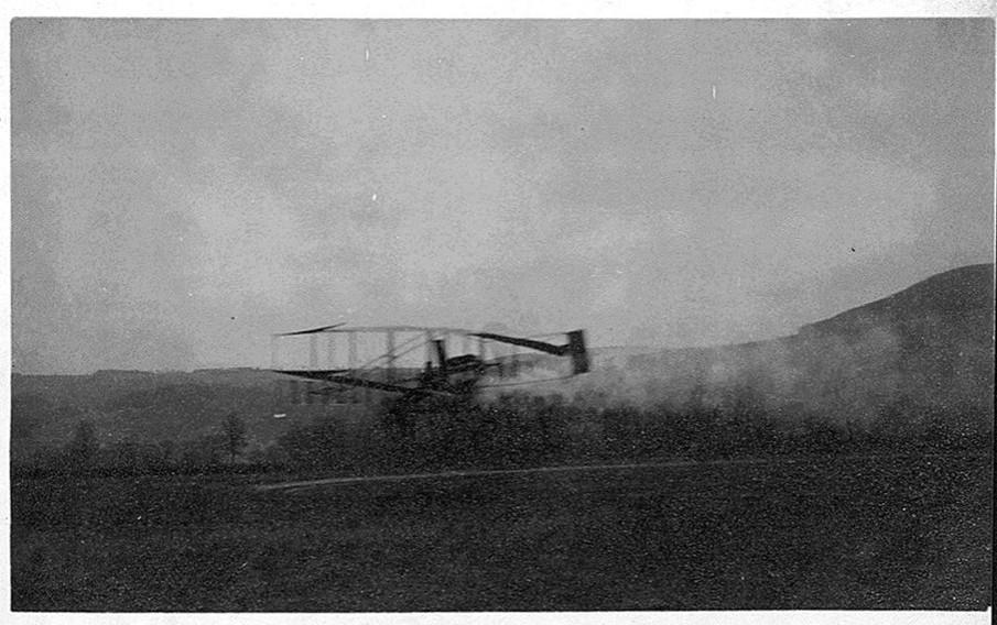 AEA's Drome No. 4, McCurdy's Silver-Dart at the racetrack near Hammondsport, N.Y., Dec., 14, 1908.