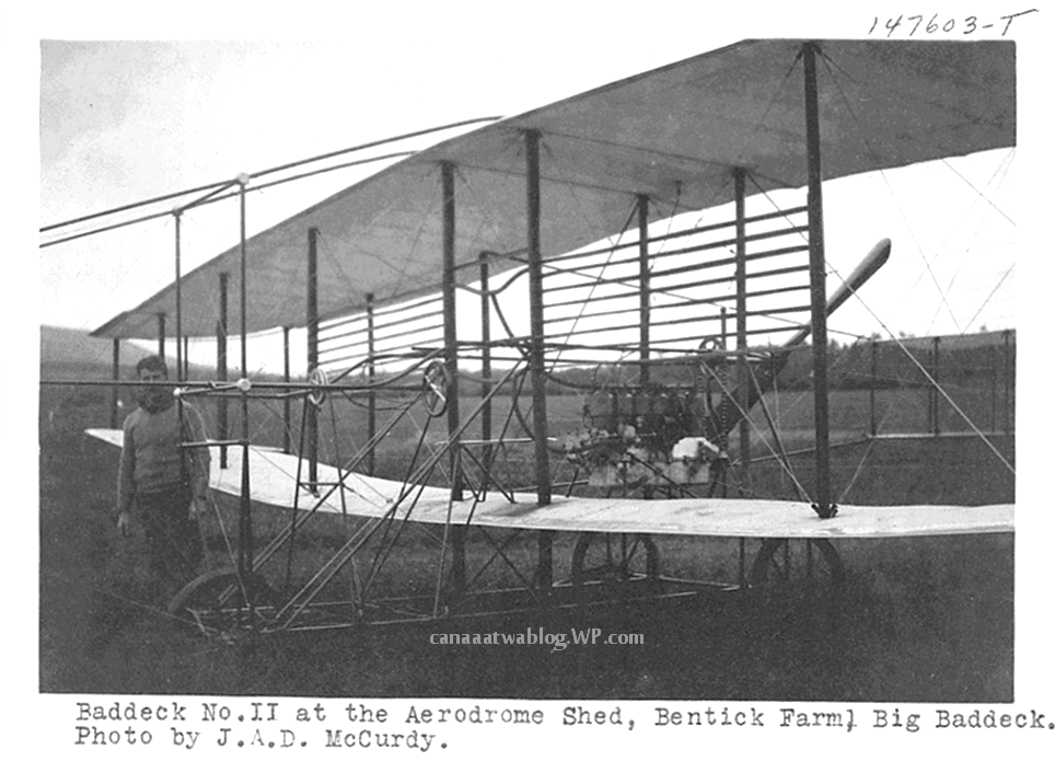 Canadian Aerodrome Company, at Bentick Farm, Drome Baddeck No. II., 25th Aug., 1909.