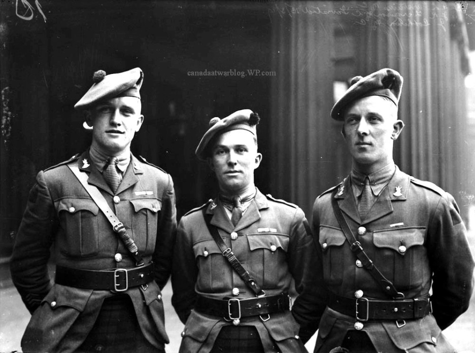 Canadian Expeditionary Force 13th Infantry Battalion Officers Lt. DL Carstairs MC Montreal. Lt. JR Ferguson MC Edmonton. Lt. J lothian MC Winnipeg.