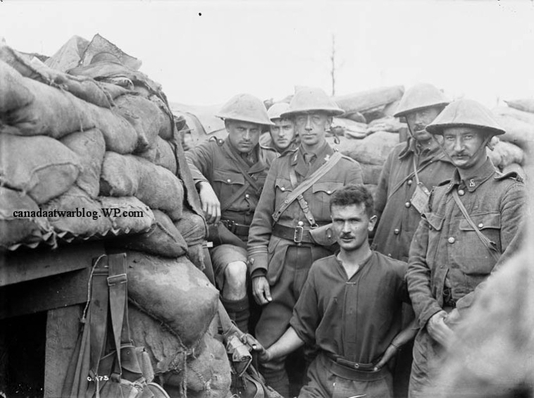 Canadian Expeditionary Force 13th Infantry Battalion Royal Highlanders of Canada. Major Buchanan in Front Line, July 1916.